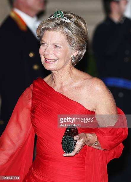 Princess Marie of Liechtenstein attends the Gala dinner for the wedding of Prince Guillaume Of Luxembourg and Stephanie de Lannoy at the Grand-ducal...
