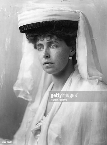 Princess Marie of Romania , wife of Ferdinand of Romania and daughter of Alfred, Duke of Edinburgh and Duke of Saxe Coburg.