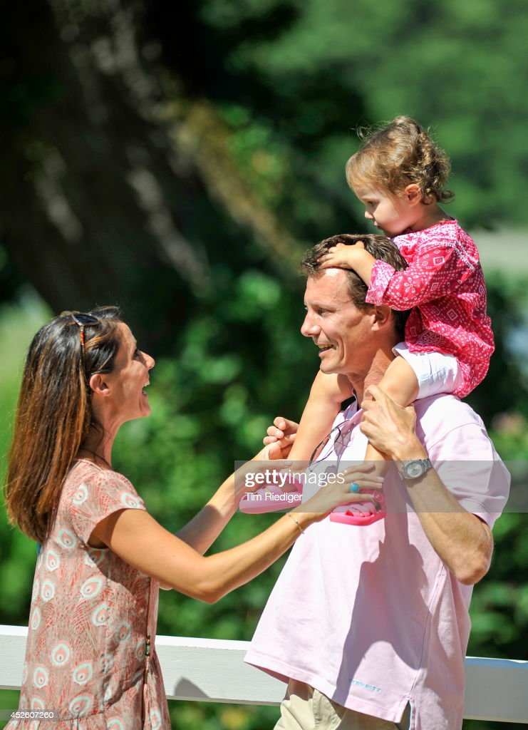 Princess Marie, Prince Joachim and Princess Athena attend the annual summer photo call for the Royal Danish family at Grasten Castle on July 24, 2014 in Grasten, Denmark.