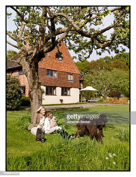 Princess MarieChantal and Princess MarieOlympia are photographed at their home 'Beale House' for Vanity Fair Spain on May 23 2009 in West Sussex...