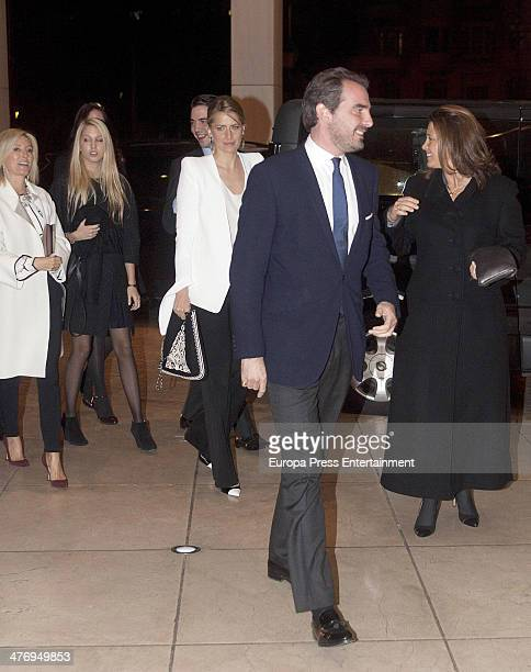 Princess MarieChantal Claire of Greece Princess Tatiana of Greece Prince Nikolaos Of Greece and Princess Alexia of Greece attend a screening of a...