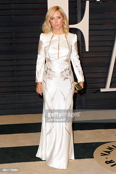 Princess Marie-Chantal of Greece attends the 2015 Vanity Fair Oscar Party hosted by Graydon Carter at Wallis Annenberg Center for the Performing Arts...