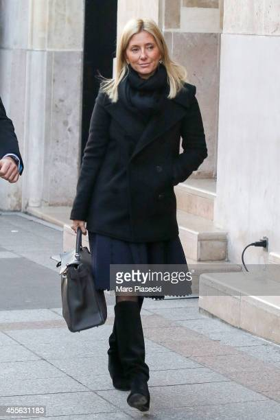 Princess Marie-Chantal of Greece is seen leaving the 'Four Seasons George V' hotel on December 12, 2013 in Paris, France.