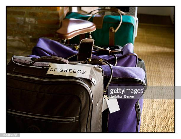 Princess Marie-Chantal's luggage is photographed at her home 'Beale House' for Vanity Fair - Spain on May 2-3, 2009 in West Sussex, England....