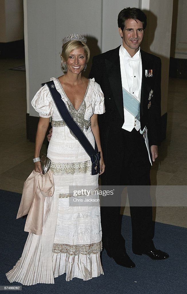 Princess Marie-Chantel and Prince Pavlos of Greece arrive for the Gala Dinner at Royal Palace to celebrate King Carl XVI Gustaf of Sweden's 60th birthday on April 30, 2006 in Stockholm, Sweden.