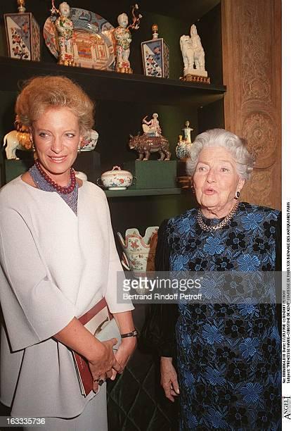 Princess MarieChristine of Kent Countess of Paris Visiting The Xix Biennale Des Antiquaires In Paris