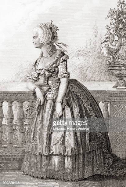 Princess Marie-Louise Thérèse of Savoy-Carignan, aka Madame de Lamballe, 1749 – 1792. Member of a cadet branch of the House of Savoy. From Galerie...