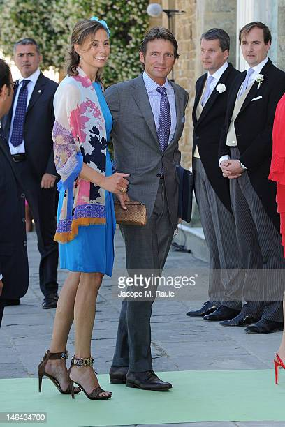 Princess Marilene and Prince Maurits of the Netherlands arrive for the Princess Carolina Church Wedding With Mr Albert Brenninkmeijer at Basilica di...