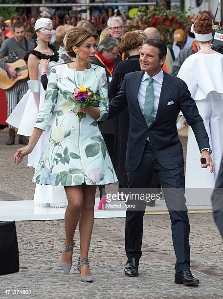 Princess Marilene and Prince Maurits of The Netherlands participate in King's Day on April 27 2015 in Dordrecht Netherlands