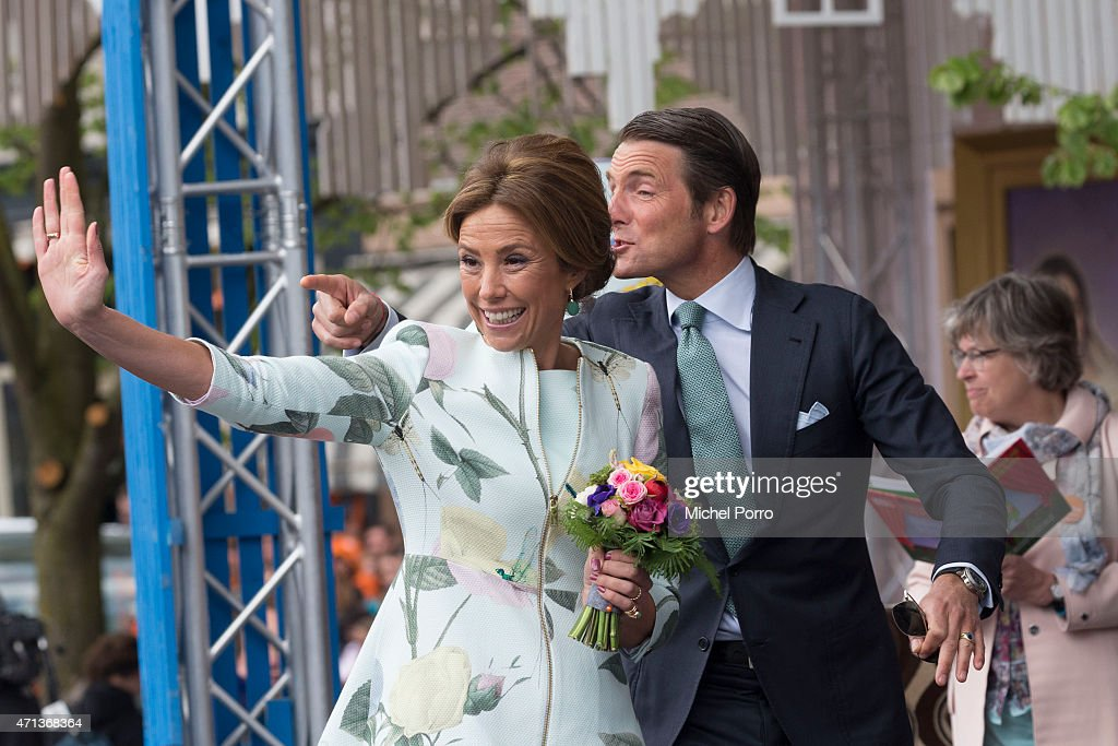 Princess Marilene and Prince Maurits participate in King's Day celebrations on April 27, 2015 in Dordrecht, Netherlands.