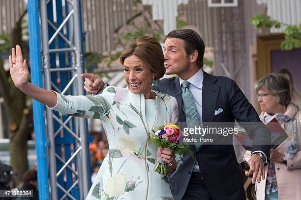 Princess Marilene and Prince Maurits participate in King's Day celebrations on April 27 2015 in Dordrecht Netherlands