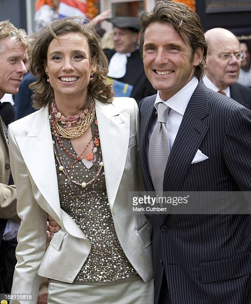 Princess Marilene Of Holland And Prince Maurits Of Holland During The Queens Day Celebrations In Franeker In Holland