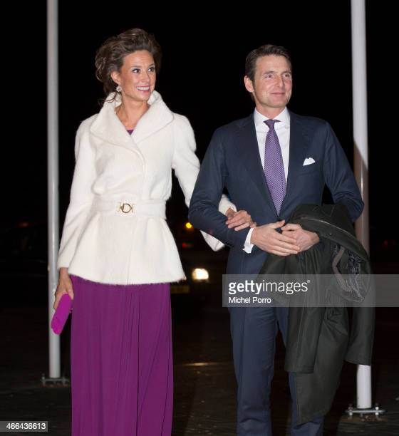 Princess Marilene of The Netherlands and Prince Maurits of The Netherlands attend a celebration of the reign of Princess Beatrix on February 1 2014...