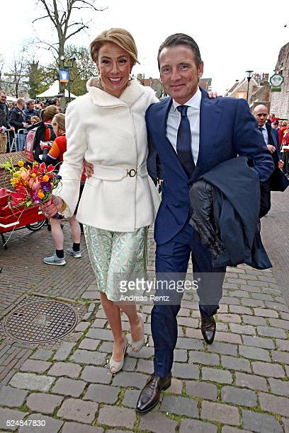 Princess Marilene of The Netherlands and Prince Maurits of The Netherlands are seen during King's Day the celebration of the birthday of the Dutch...