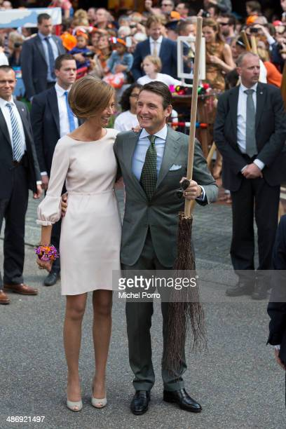 Princess Marilene of The Netherlands and Prince Maurits of The Netherlands attend King's Day celebrations on April 26 2014 in Amstelveen Netherlands
