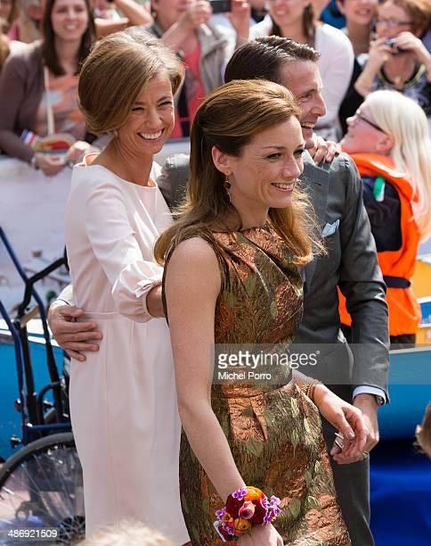 Princess Marilene of The Netherlands Princess Aimee of The Netherlands and Prince Maurits of The Netherlands attend King's Day celebrations on April...