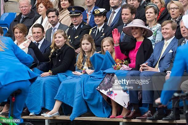Princess Marilene, Prince Maurits, Princess Catharina-Amalia, Princess Alexia, Princess Ariane, Queen Maxima and King Willem-Alexander of The...