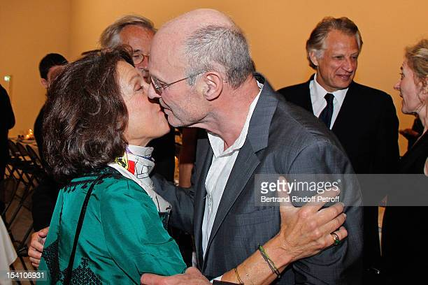 Princess Marina de Grece and artist Anselm Kiefer attend the opening of Thaddaeus Ropac's new gallery on October 13 2012 in Pantin France