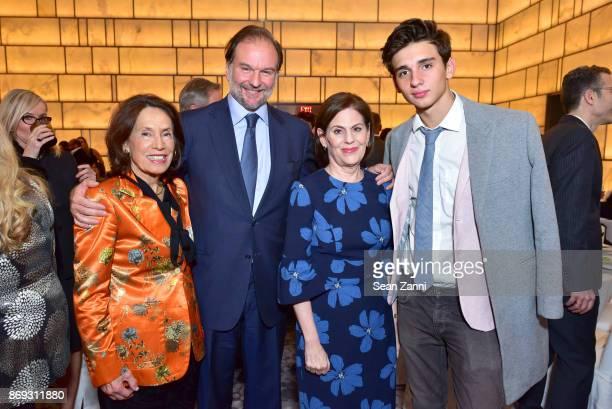 Princess Marina of Greece Nicolas Mirzayantz Linda G Levy and Tigran Mirzayantz attend the Circle of Champions 2017 at New York Park Hyatt on...