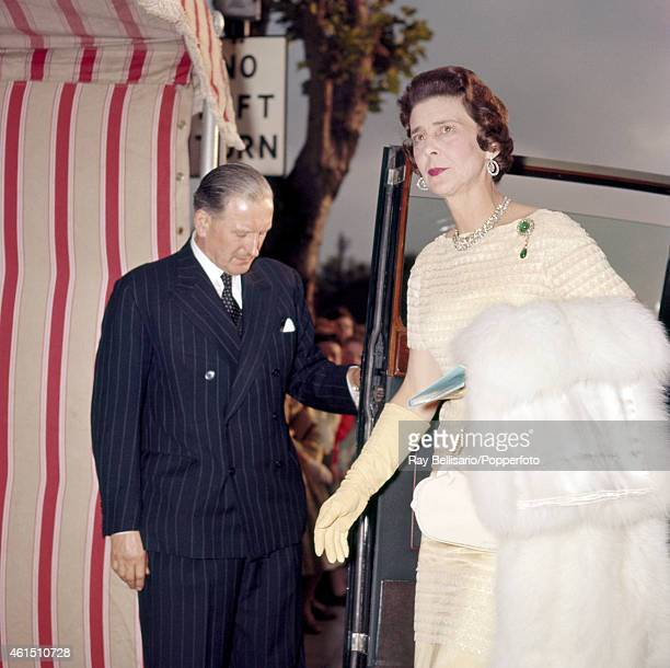 Princess Marina the Duchess of Kent arriving at the Theatre Royal in Windsor on 16th June 1960 This image is one of a series taken by Ray Bellisario...