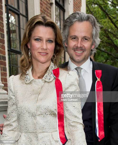 Princess Martha Louise and Ari Behn arriving at the Noweigan church as they celebrate Norway National Day on May 17 2013 in London England