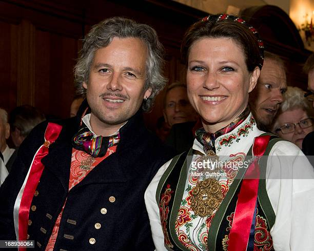 Princess Martha Louise and Ari Behn at the Noweigan church as they celebrate Norway National Day on May 17 2013 in London England