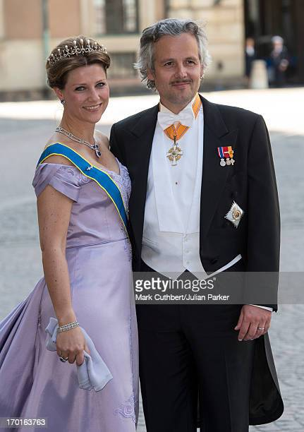 Princess Martha Louise and Ari Behn attend the wedding of Princess Madeleine of Sweden and Christopher O'Neill hosted by King Carl Gustaf and Queen...