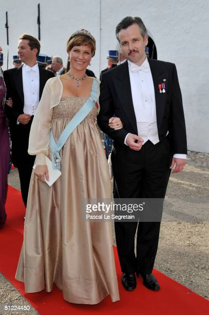 Princess Martha Louise and her husband Ari Behn depart after they attended the wedding between Prince Joachim of Denmark and Princess Marie of...