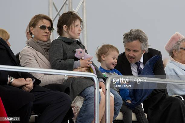 Princess Martha Louise And Husband Ari Behn With Their Daughters Maud Angelica And Emma Tallulah Attend A Concert At Oslo Opera House To Celebrate...