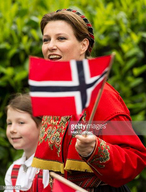 Princess Martha Louise and Maud Angelica take part in a parade in Southwark Park as she celebrates Norway National Day on May 17 2013 in London...