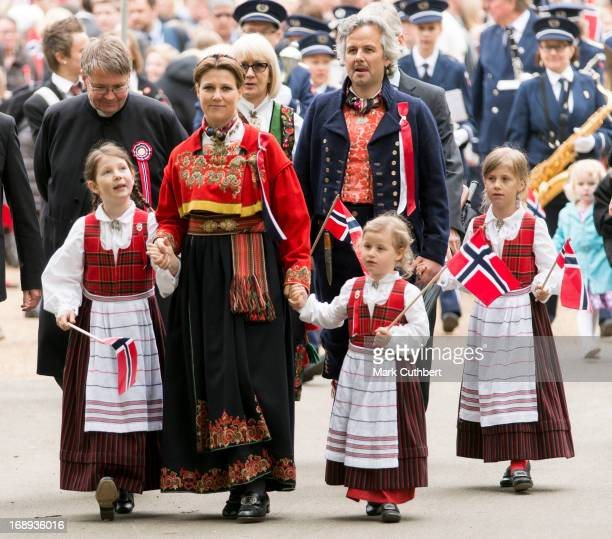 Princess Martha Louise Ari Behn Maud Angelica Leah Isadora and Emma Tallulah take part in a parade in Southwark Park as they celebrate Norway...