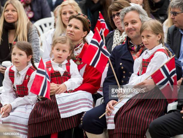 Princess Martha Louise Ari Behn Maud Angelica Leah Isadora and Emma Tallulah in Southwark Park as they celebrate Norway National Day on May 17 2013...