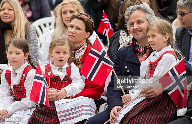 Princess Martha Louise, Ari Behn, Maud Angelica, Leah Isadora and Emma Tallulah in Southwark Park as they celebrate Norway National Day on May 17,...