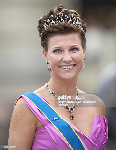Princess Martha Louise At The Wedding Of Crown Princess Victoria Of Sweden And Daniel Westling At Stockholm Cathedral.