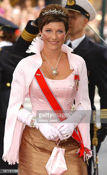 Princess Martha Louise Attends The Wedding Of Crown Prince Haakon Of Norway MetteMarit In Oslo