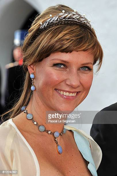 Princess Martha Louise departs after she attended the wedding between Prince Joachim of Denmark and Princess Marie of Denmark, Countess of Monpezat,...