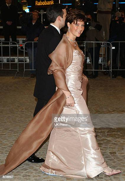 Princess Martha Louise of Norway and Ari Behn attend a dinner and party at the Royal Palace in honor of the wedding of Dutch Crown Prince...