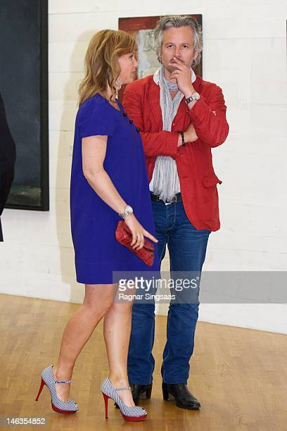 Princess Martha Louise of Norway and Ari Behn attend opening of exhibition 'Landskap og Rom' at Henie Onstad Art Centre on June 14, 2012 in Sandvika,...