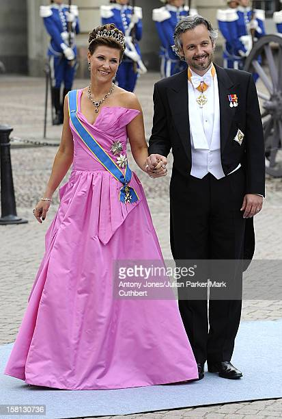 Princess Martha Louise Of Norway And Husband Ari Behn At The Wedding Of Crown Princess Victoria Of Sweden And Daniel Westling At Stockholm Cathedral.