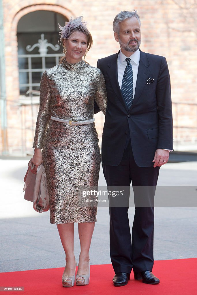 Princess Martha Louise of Norway, and husband Ari Behn attend a Lunch at City Hall Stockholm, on the occasion of King Carl Gustaf of Sweden's 70th Birthday, on April 30, 2016, in Stockholm, Sweden.