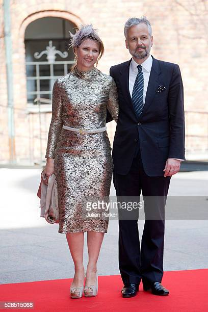 Princess Martha Louise of Norway and husband Ari Behn attend a Lunch at City Hall Stockholm on the occasion of King Carl Gustaf of Sweden's 70th...