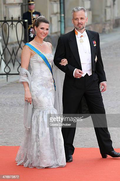 Princess Martha Louise of Norway and husband Ari Behn attend the royal wedding of Prince Carl Philip of Sweden and Sofia Hellqvist at The Royal...