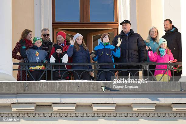 Princess Martha Louise of Norway and husband Ari Behn Prince Sverre Magnus of Norway Emma Tallulah Behn Queen Sonja of Norway Princess Ingrid...
