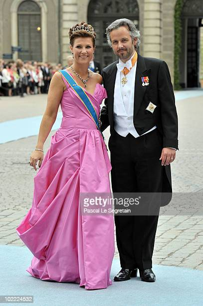 Princess Martha Louise of Norway and husband Mr Ari Behn attend the Wedding of Crown Princess Victoria of Sweden and Daniel Westling on June 19, 2010...