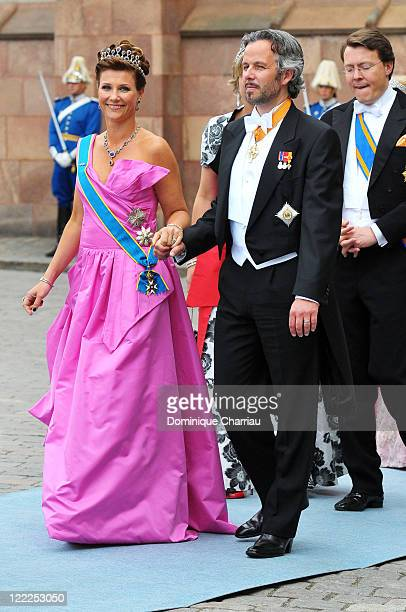 Princess Martha Louise of Norway and husband Mr Ari Behn attend the wedding of Crown Princess Victoria of Sweden and Daniel Westling on June 19 2010...