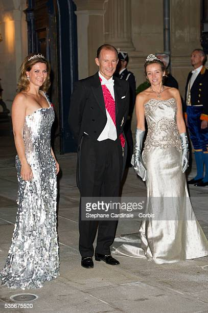 Princess Martha Louise of Norway and Prince Kyril of Bulgaria attend the Gala dinner for the wedding of Guillaume of Luxembourg and Stephanie de...