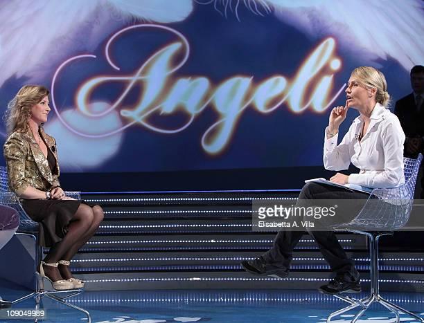 Princess Martha Louise Of Norway and TV presenter Licia Colo attend Alle Falde Del Kilimangiaro Italian TV Show at the RAI Studios on February 13...