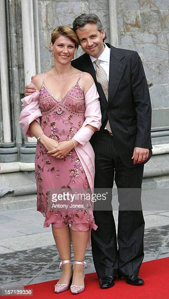 Princess Martha Louise Of Norway Ari Behn Attend The Celebrations In Trondheim For The Centennial Anniversary Of King Haakon Vii Queen Maud'S...