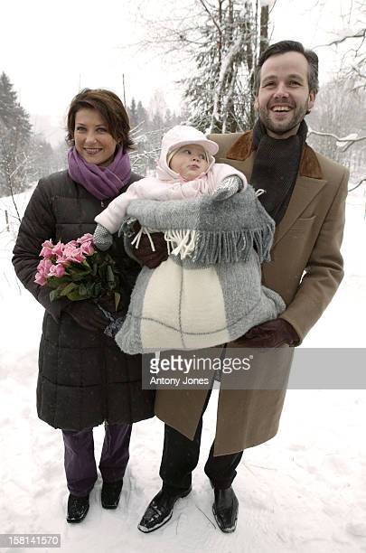 Princess Martha Louise Of Norway Ari Behn Daughter Maud Angelica Outside Their New Home In Lommedalen Near Oslo