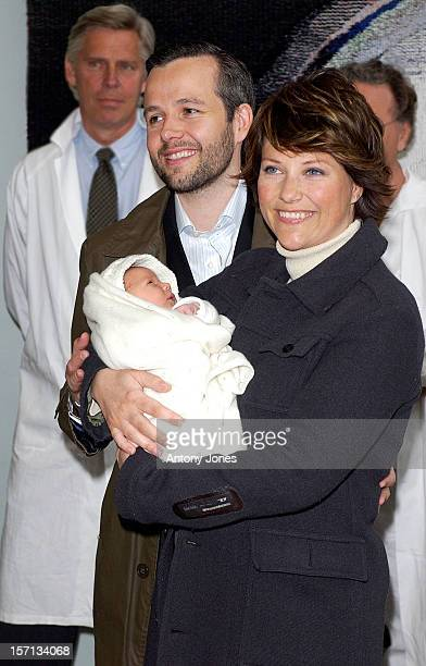 Princess Martha Louise Of Norway & Ari Behn Leave The Riks Hospital, In Oslo, With Their New Baby Daughter Maud Angelica.